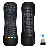 Updated Air Mouse Backlit,  2.4G Wireless Android Kodi Remote Mini Keyboard Infrared Learning Voice Input for Android TV Box PC Pad Raspberry Pi 3 Android Windows Mac OS Linux