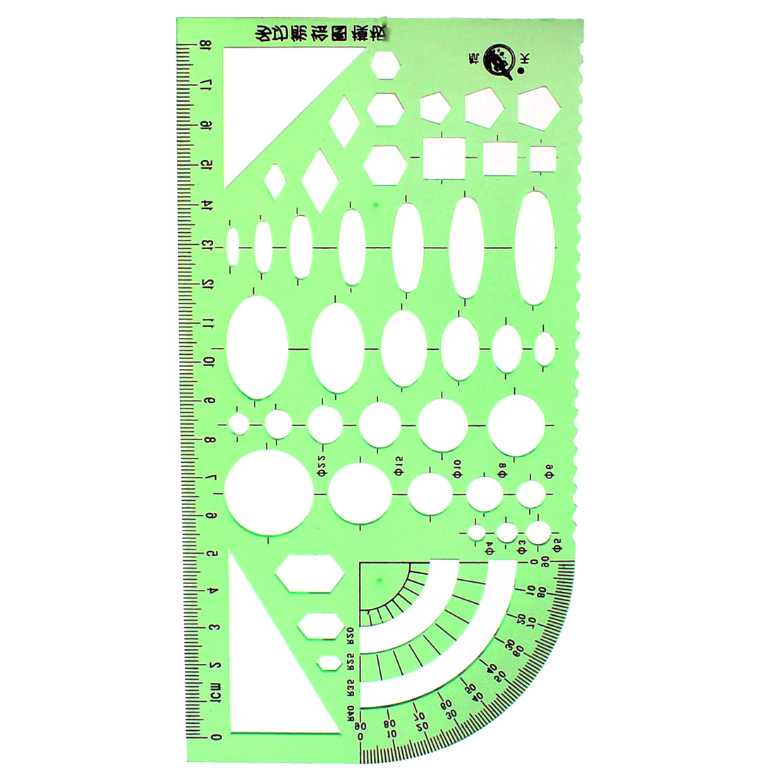 Unique Bargains School Office Math Geometry Stationery Measuring Drawing Template Ruler