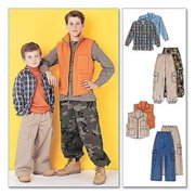 McCall's Pattern Children's and Boys' Shirt, Vest and Pull-On Pants, Z (M, L, XL)