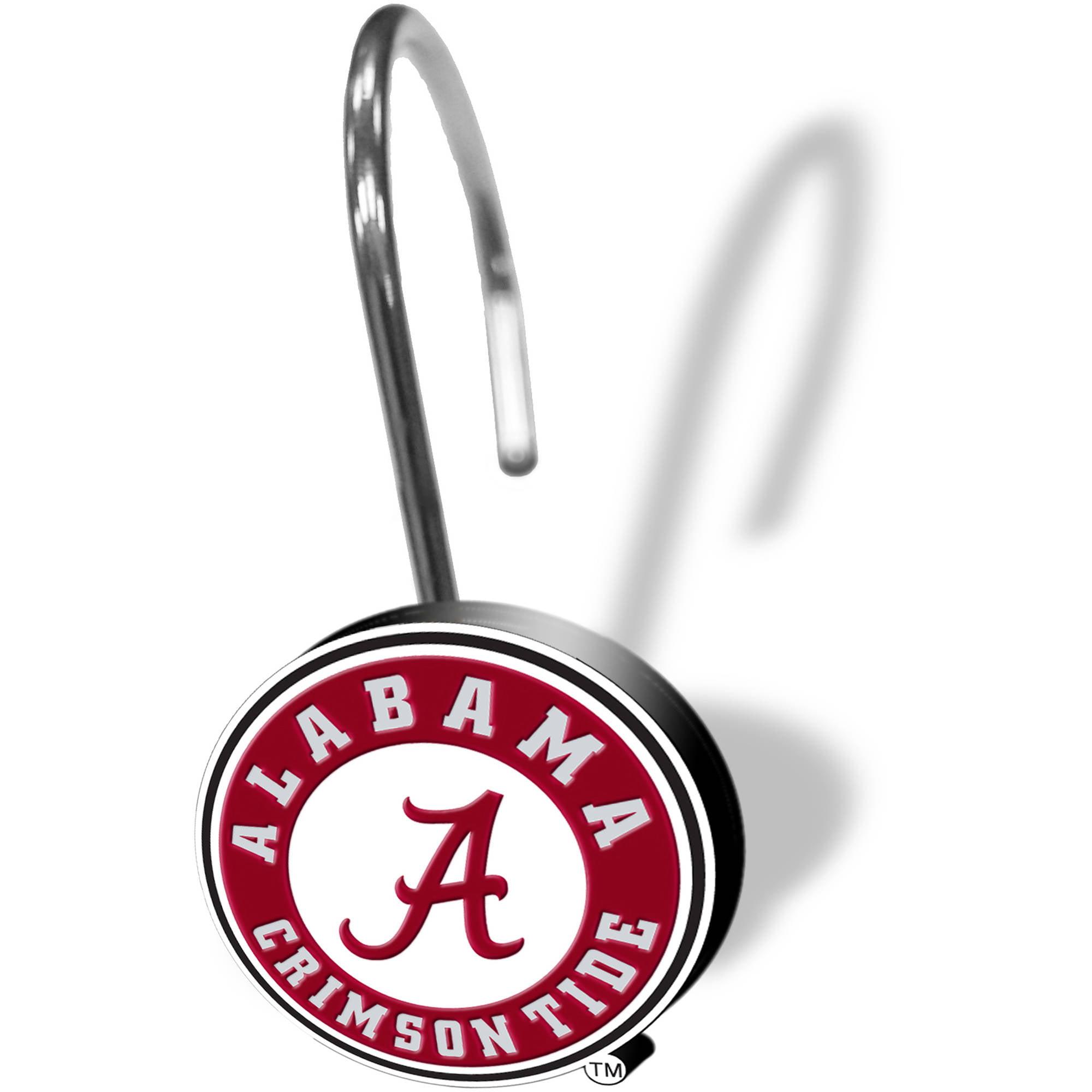 NCAA University of Alabama Decorative Bath Collection - 12pc Shower Hooks