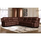 3 Piece Modern Reversible Tufted Bonded Leather Sectional