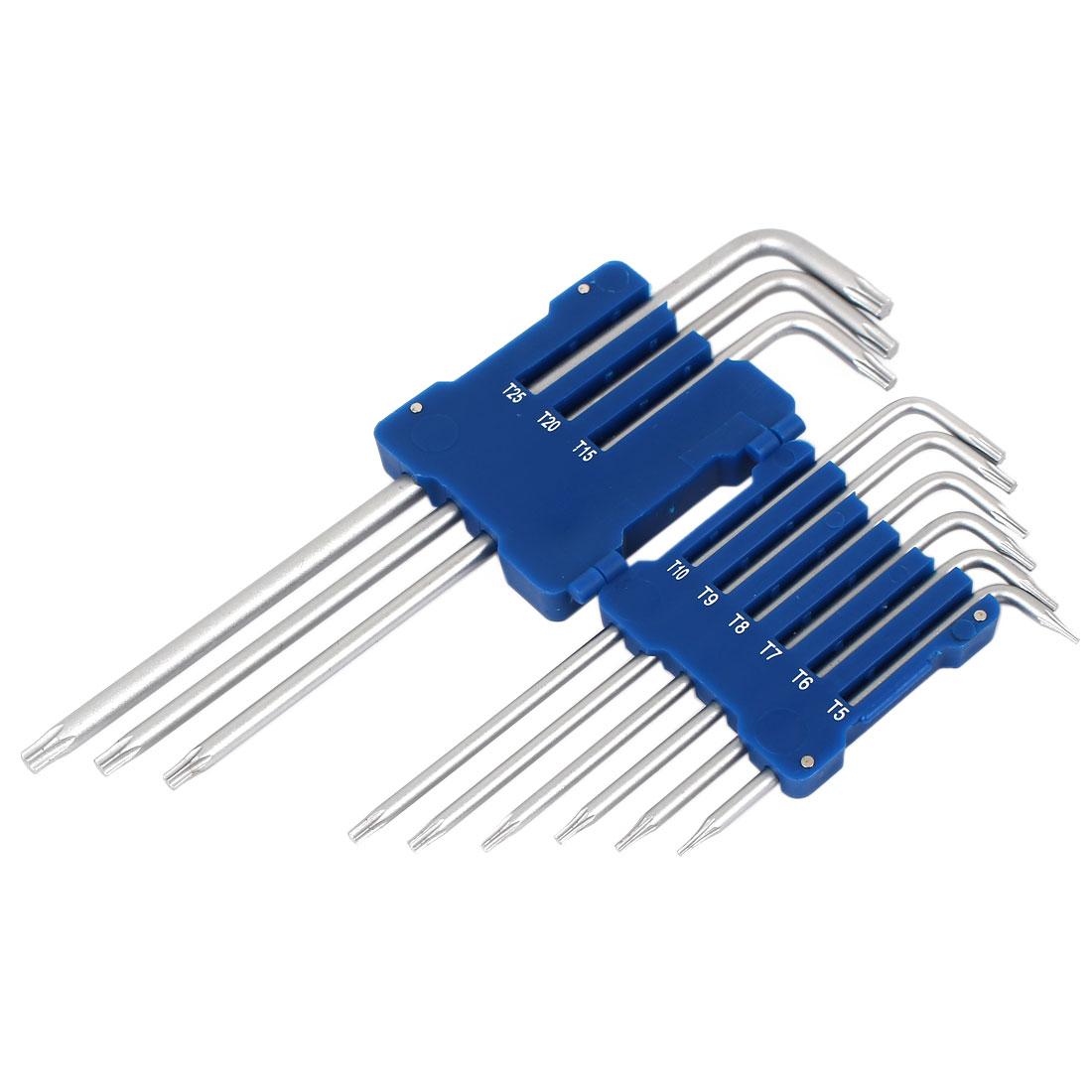Star Torx Key Wrench Spanner Screwdriver Set Repairing Tool Kits 9 in 1