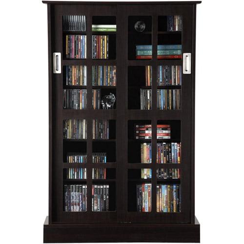 Atlantic Windowpane 576 CD or 192 DVD Blu-Ray Games Cabinet with ...