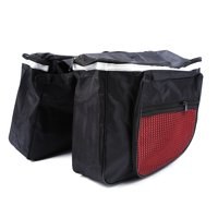 HERCHR Bicycle Bag, Waterproof 25L Cycling Bicycle Bike Rack Back Rear Seat Tail Carrier Trunk Double Pannier Bag, Red