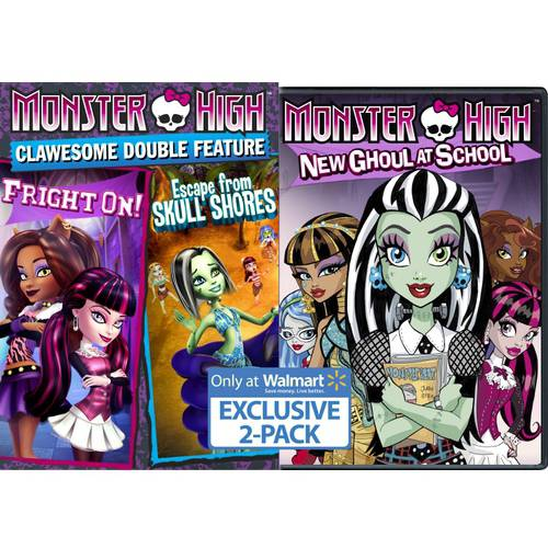 Monster High: Escape From Skull Shores & Fright On / Monster High: New Ghoul At School (Walmart Exclusive) (Anamorphic Widescreen, WALMART EXCLUSIVE)