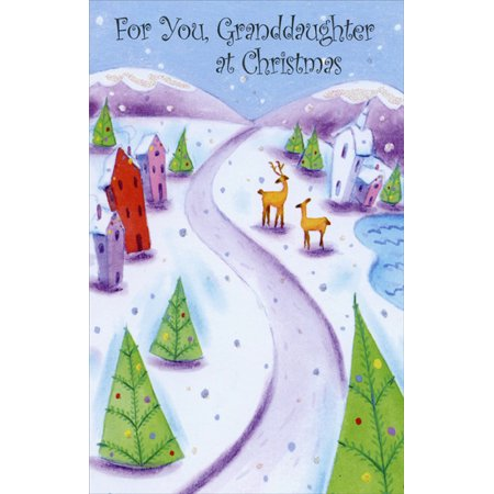 Freedom Greetings Small Winter Village: Granddaughter Christmas