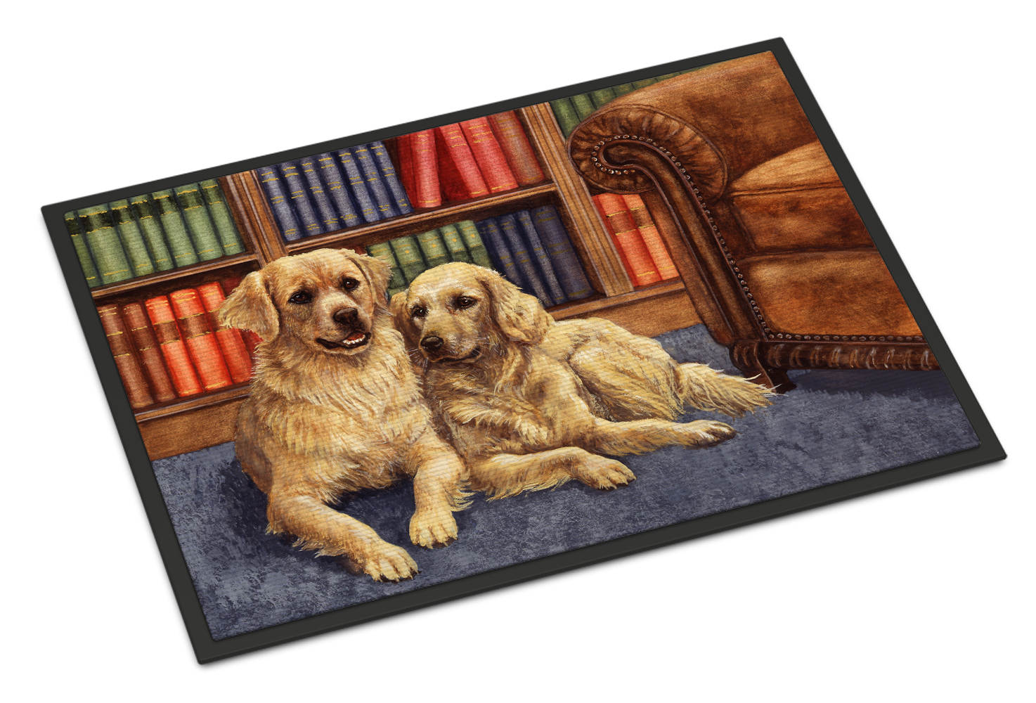 Golden Retrievers in the Library Doormat by Caroline's Treasures