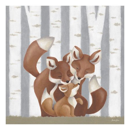 Oopsy Daisy Forest Families Foxes Canvas Art