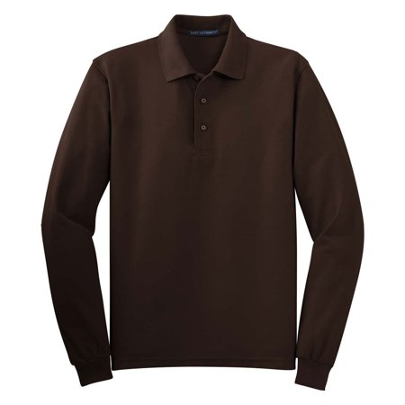 Port Authority Men's Silk Touch Long Sleeve Polo Shirt