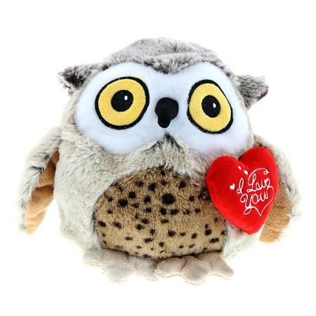 Super Soft Plush Dollibu Big Fat Brown Owl Red I Love You Valentines Plush](Valentine Owl)