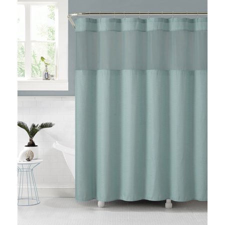 VCNY Home Fabric Shower Curtain With An Attached PEVA Liner