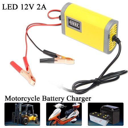LED 12V 2A Car Motorcycle Smart Automatic Battery Charger