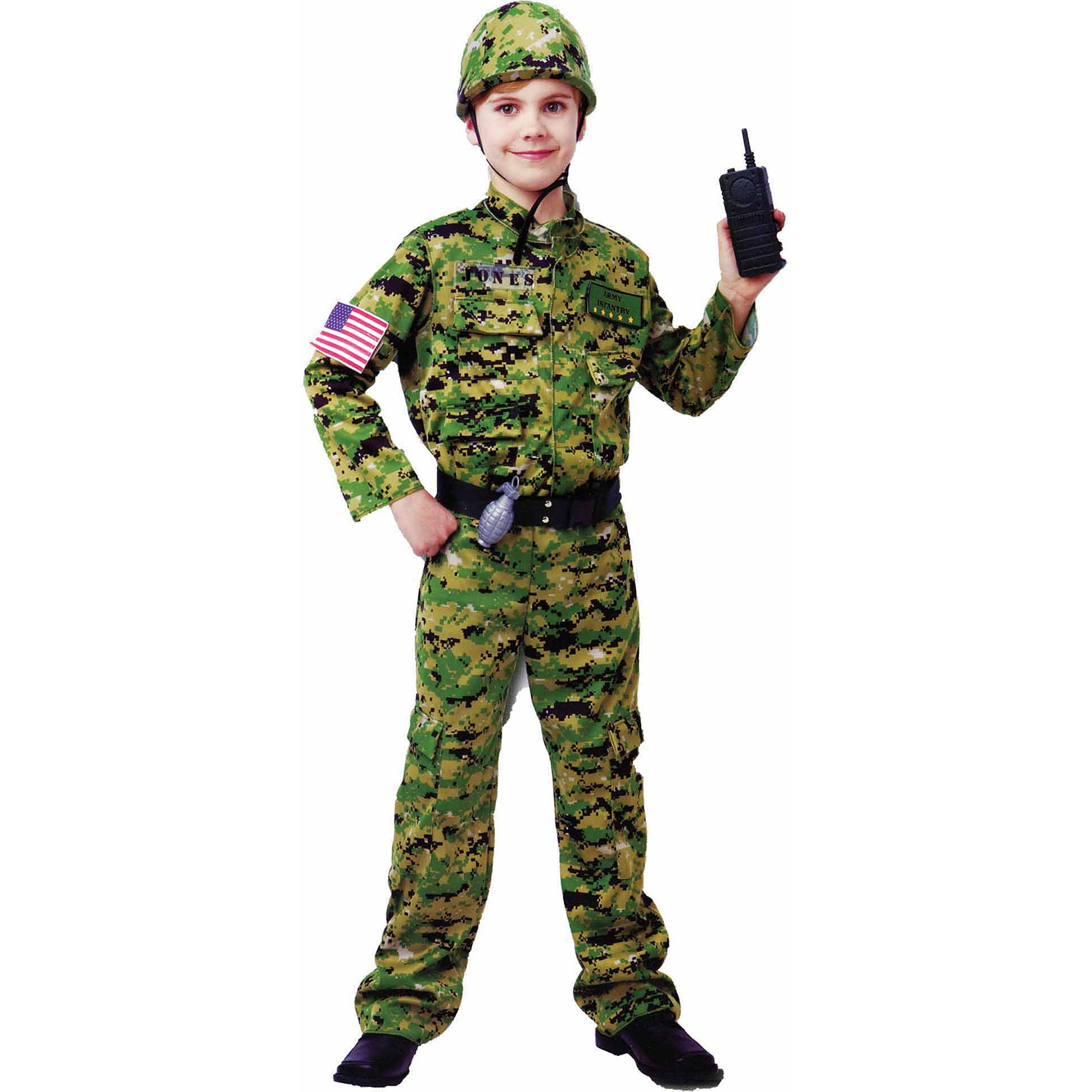 generic army infantry child halloween costume walmartcom - Halloween Army Costumes