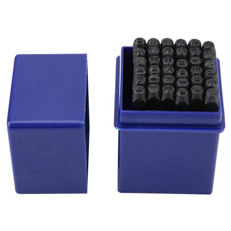 LAFGUR 36pcs/set 4mm Steel Alphabet Letter & Number Stamp Punch Die Tool Kit , Number Punch,Steel Stamp