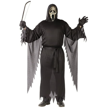 Zombie Ghost Face Adult Halloween Costume, Size (25-38)