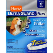 "Hartz Ultra Guard Plus Flea & Tick Collar For Dogs Fresh Scent Fits Up To 22"" Necks, 1.0 CT"