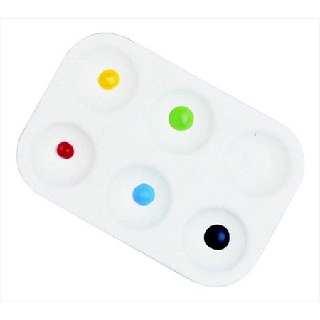 - School Smart 085855 Paint-Rite Tray With 6 Wells, White - Pack Of 12