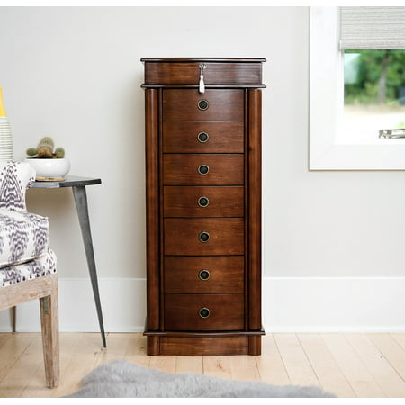 Hives & Honey Nora Standing Jewelry Armoire - Walnut