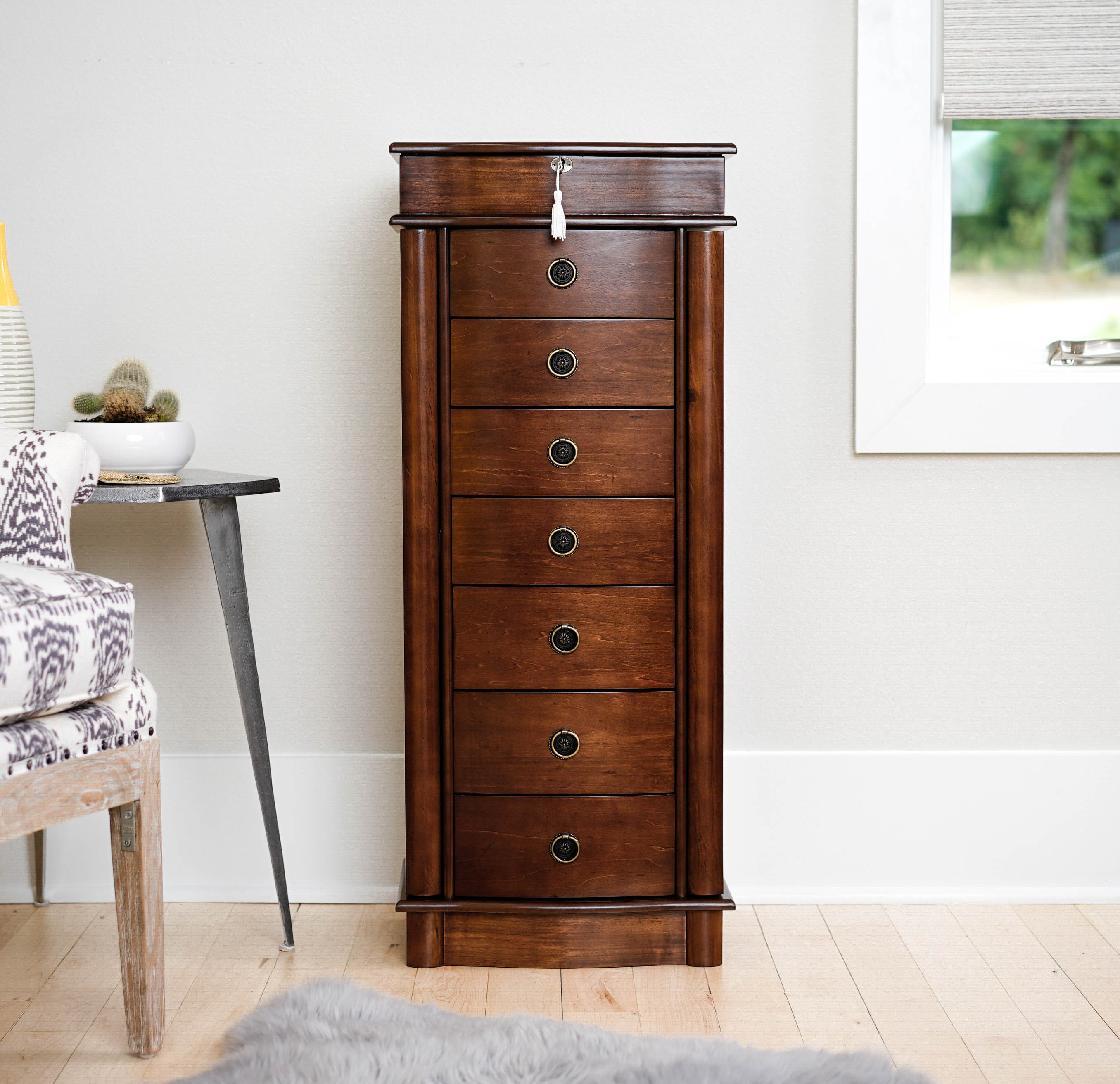 Product Image Hives U0026 Honey Nora Standing Jewelry Armoire   Walnut