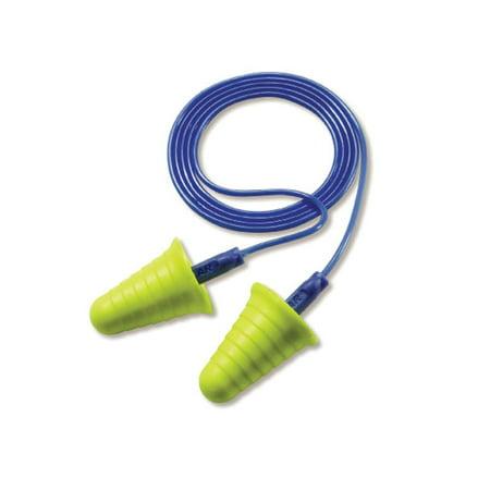 3M-Commercial Tape Div 3181009 30NRR Ear Push-Ins Grip-Ring Earplugs, Corded - Yellow & (Egr Tape)
