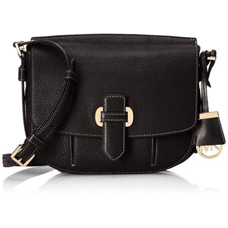 michael kors new black gold pebble leather romy messenger bag purse Gold Pebbled Leather
