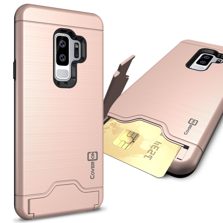 CoverON Samsung Galaxy S9 Plus Case, Shadow Armor Series Hybrid Kickstand Phone Cover