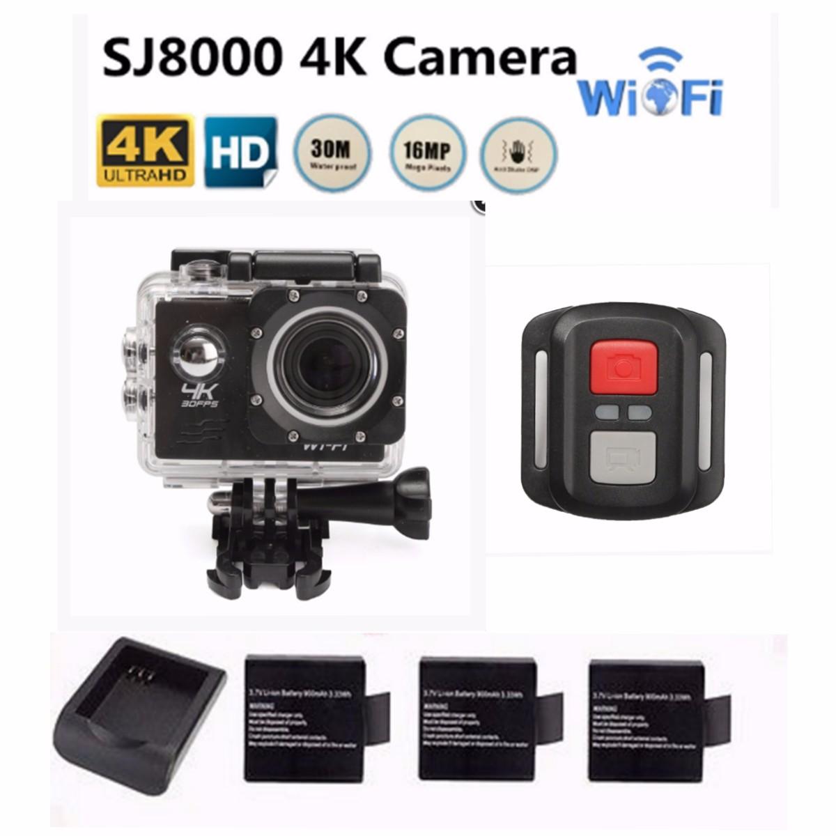 """SJ8000 WiFi Action Sports Camera 4K HD 1080P 2.0"""" LCD Wat..."""