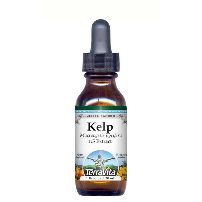 Kelp Glycerite Liquid Extract (1:5) Vanilla Flavored (1 fl oz, ZIN: 428232) by TerraVita