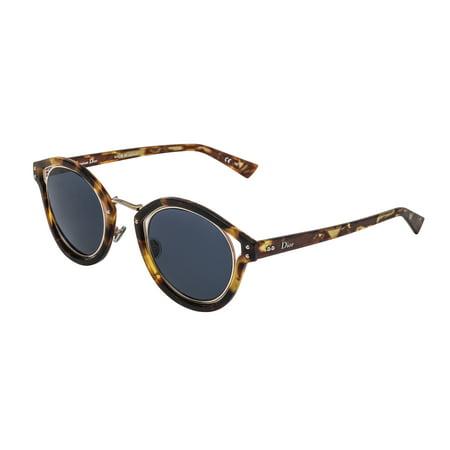 8e097f309eb Dior Diorelliptic Tz848Ku Round Sunglasses For Unisex In Tortoise With Blue  Lens 48 26  ...