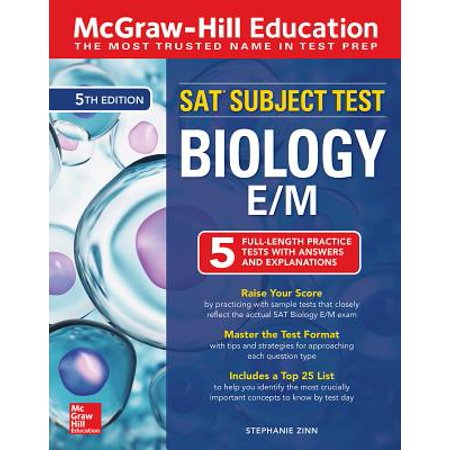 McGraw-Hill Education SAT Subject Test Biology E/M, Fifth