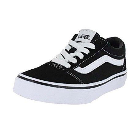 1c131e3d7ec Vans - vans kids (k) ward lo canvas black white size 12.5 - Walmart.com