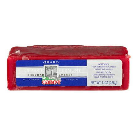 Cabot Cheddar Cheese Classic Vermont, 8 oz - Walmart com