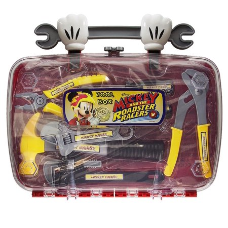 Disney Parks Mickey Roadster Racers Tool Box Play Set New with Case