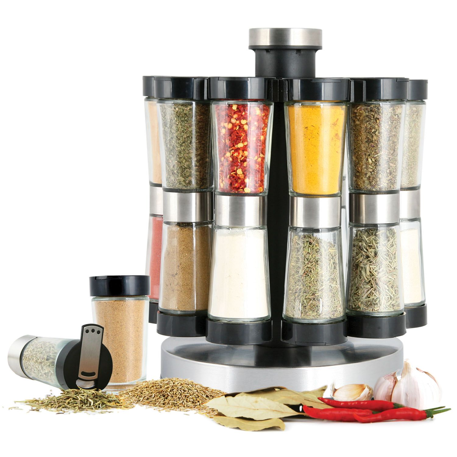 2-in-1 Flipside Spice Rack Set (20 jars) by Orii
