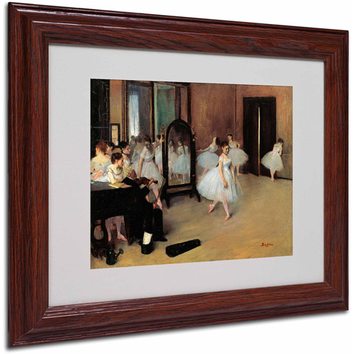 "Trademark Fine Art ""The School of Dance 1871"" Canvas Art by Edgar Degas, Wood Frame"