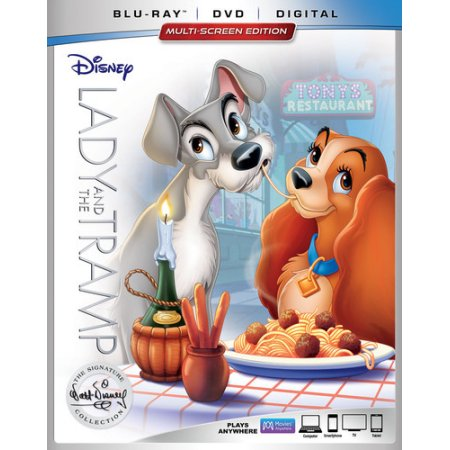 Lady and the Tramp (The Walt Disney Signature Collection) (Blu-ray + DVD + Digital)