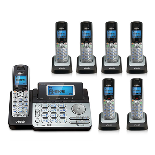 VTech DS6151 + (6) DS6101 2 Line Expandable cordless phone by VTech