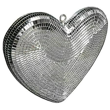 Heart shaped Mirror Ball - 14 inch  - Disco Ball for $<!---->
