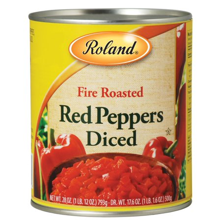 (6 Pack) Roland Roasted Peppers, Red Diced, 28 (Best Red Peppers)
