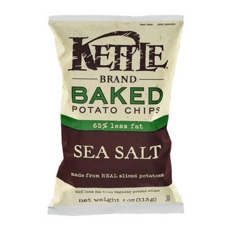 Kettle Brand Baked Potato Chips 65% Less Fat Sea Salt, 4.0 OZ ...