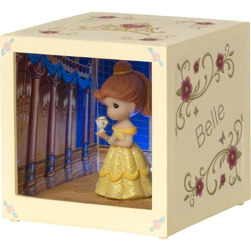 Precious Moments Disney Showcase Belle Resin Vinyl LED Decorative Box by Precious Moments