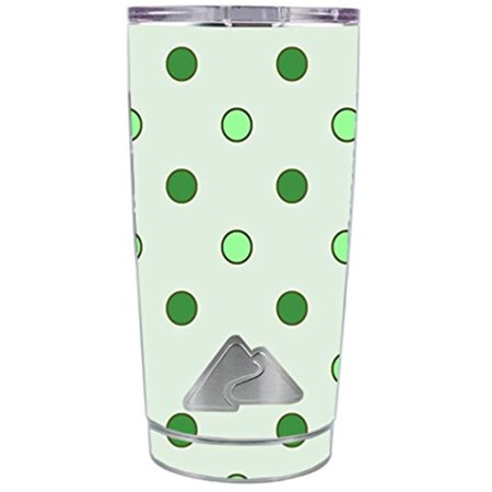 Skin Decal Vinyl Wrap for Ozark Trail 20 oz Tumbler Cup (5-piece kit) Stickers Skins Cover / Green Polka Dots