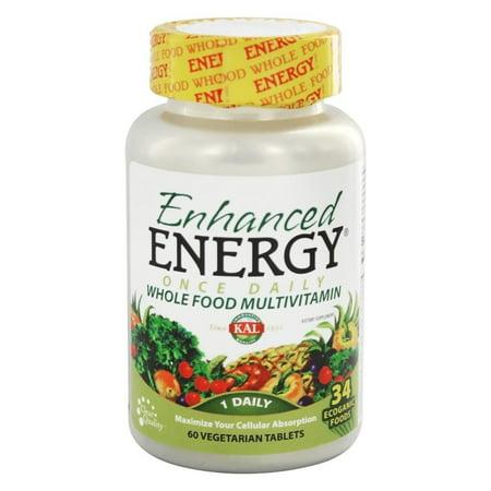 Kal - Enhanced Energy Once Daily Whole Food Multivitamin - 60 Vegetarian