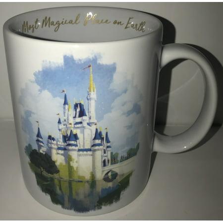 Disney Most Magical Place on Earth Ceramic Coffee Mug Walt Disney World White](Disney Halloween Coffee Mug)