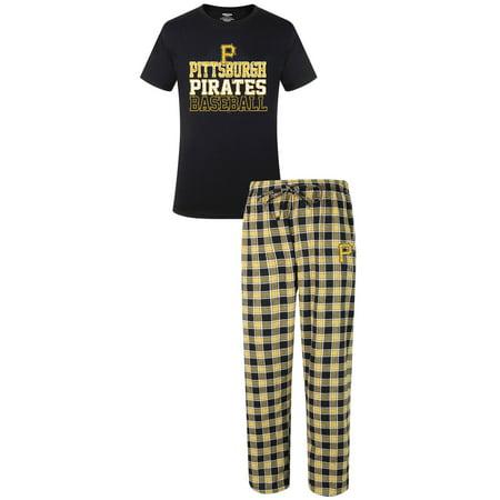 "Pittsburgh Pirates MLB ""Medalist"" Mens T-shirt & Flannel Pajama Pants Sleep Set by"