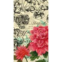 Embossed Paper Guest Towel, 15 count, Vintage Floral