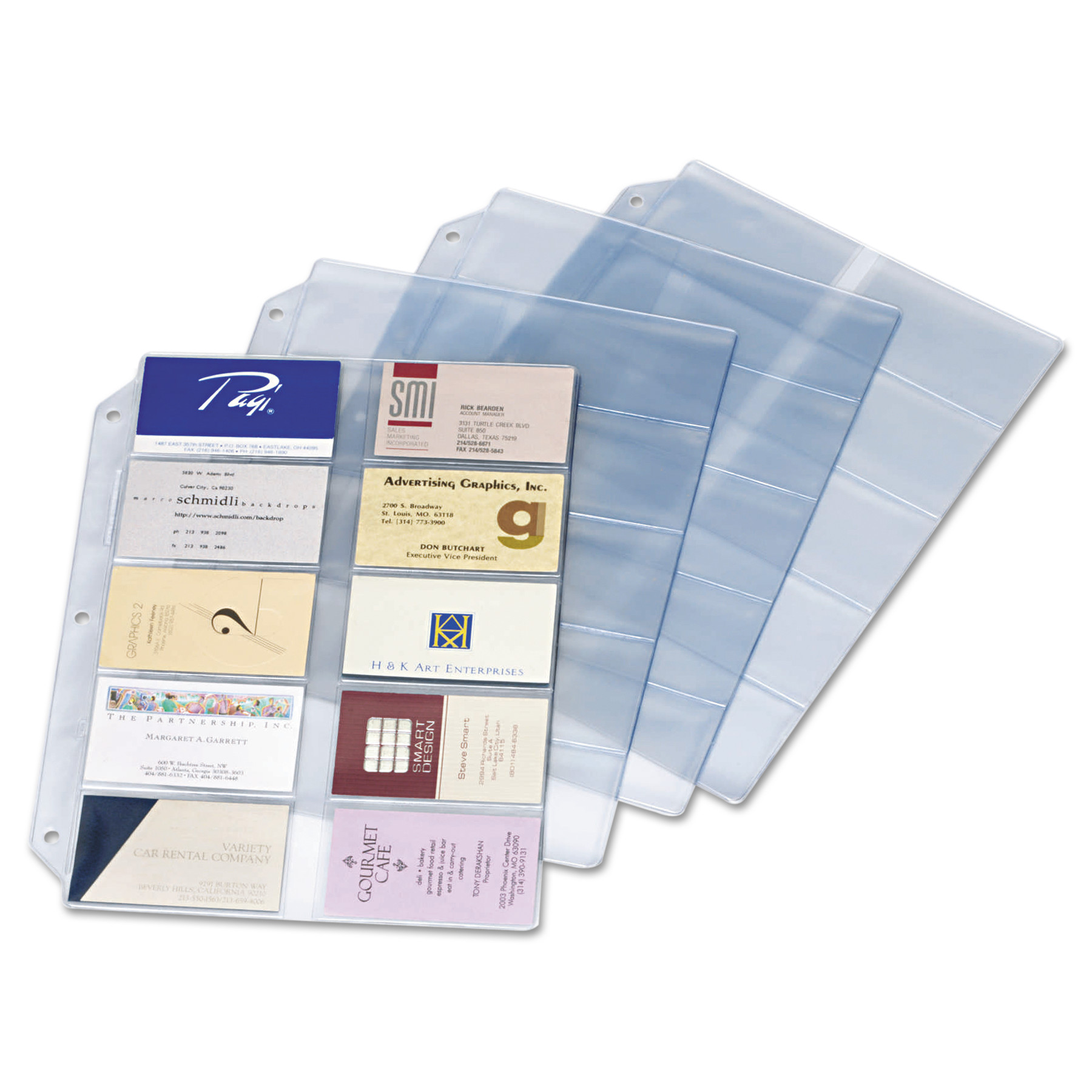 Cardinal Business Card Refill Pages Holds 200 Cards