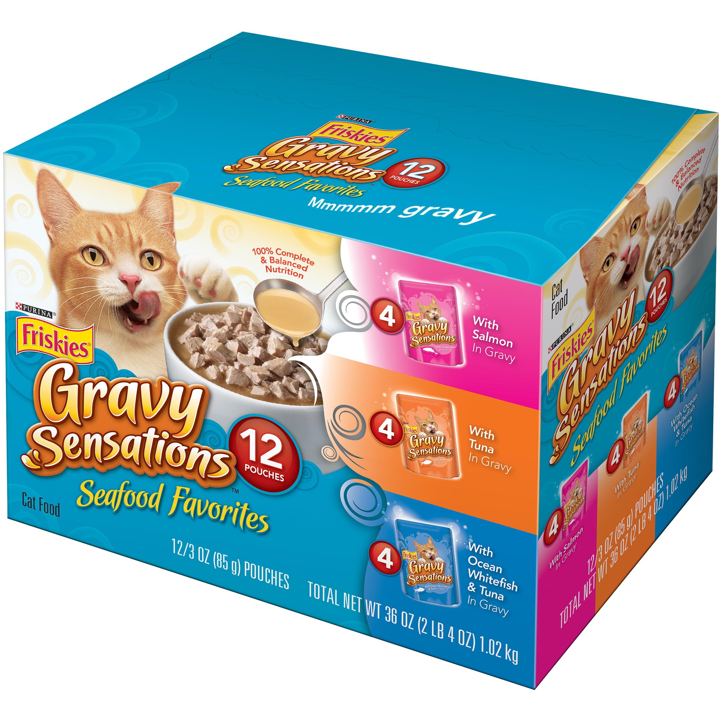 Purina Friskies Gravy Sensations Seafood Favorites Cat Food Variety Pack 12-3 oz. Pouches