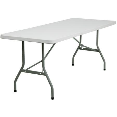 Flash Furniture 30''W x 72''L Granite White Plastic Folding - Walmart Plastic Table