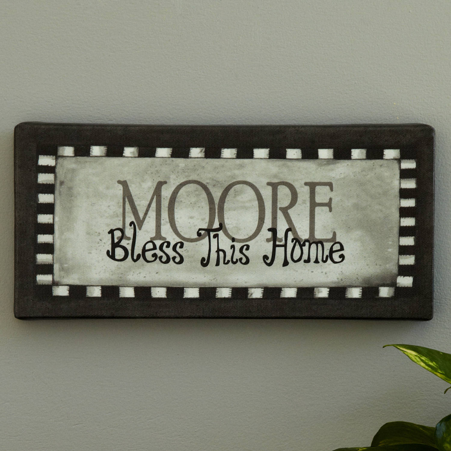 """Personalized Wall Decor personalized """"bless this home"""" canvas wall decor, available in"""